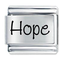 Name Hope Italian Charms Laser Italian Charm