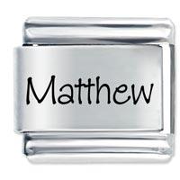 Name Matthew Italian Charms Laser Italian Charm