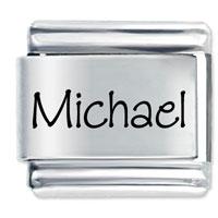 Name Michael Italian Charms Laser Italian Charm
