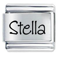 Name Stella Italian Charms Laser Italian Charm