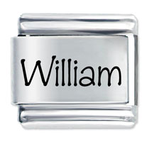 Name William Italian Charm Laser Italian Charm