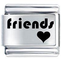 Heart Words Phrases Bracelet Friendship Italian Charms