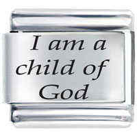 I Am A Child Of God Italian Charm Bracelet Link Laser Italian Charm