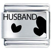 Husband Heart Home   Family Italian Charm Bracelet Laser Italian Charm