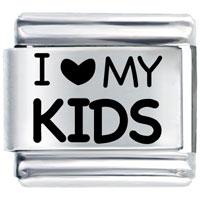 Laser I Heart Kids Italian Charm Bracelet Laser Italian Charm