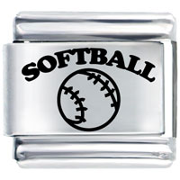 Softball Sports Italian Charms Laser Italian Charm