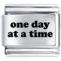Day At Time Italian Charms Laser Italian Charm