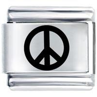 Peace Symbol Italian Charms Laser Italian Charm