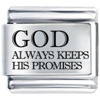 Bracelet God Keeps Promises By Price Italian Charm Laser Italian Charm