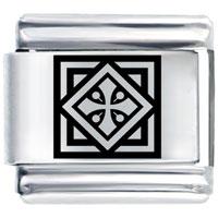 Celtic Cross Tile Religious Italian Charms Link Laser Italian Charm