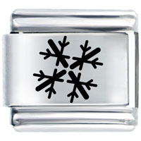 Christmas Gifts Snowflake Holiday Laser Italian Charm Bracelet