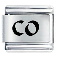 Co Colorado State Travel Flags Italian Charm Bracelet Laser Italian Charm