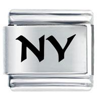 Ny New York Travel Flags Italian Charm Bracelet Laser Italian Charm