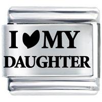 I Heart Daughter Italian Charm Bracelet Laser Italian Charm