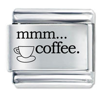 Mmm Coffee Gift Italian Charm Laser Italian Charm