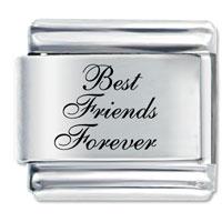 Best Friends Forever Italian Charms Laser Italian Charm