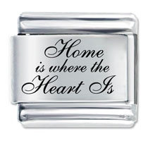 Home Where Heart Italian Charm Bracelet Laser Italian Charm