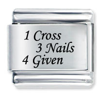 1 Celtic Cross 3 Nails By Price Italian Charm Laser Italian Charm