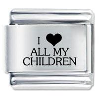 I Heart Children Valentine Italian Charm Bracelet Laser Italian Charm