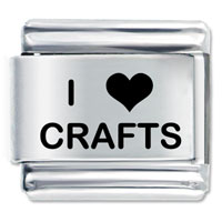 I Heart Crafts Love Italian Charm Bracelet Laser Italian Charm