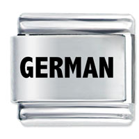 New Laser Charm German Shiny Stainless Steel 9 Mm Italian Charm Link Laser Italian Charm