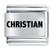 Laser Charm Christian Religious Charm Stainless Steel Italian Charm Laser Italian Charm