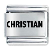 Laser Charm Christian Religious Charm Stainless Steel Italian Charm Laser Italian Charm