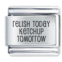 Relish Today Laser Italian Charm Link Stainless Steel Base 9 Mm