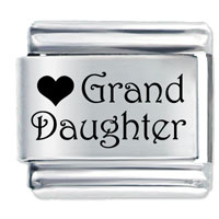 Heart Grand Daughter Italian Charm Bracelet Laser Italian Charm