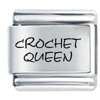 Crochet Queen Italian Charms Laser Italian Charm