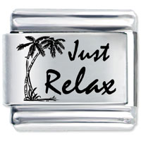 Tropical Just Relax Italian Charm Bracelet Bracelet Link Laser Italian Charm