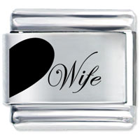Wife Heart Birthstones Jewelry Italian Charm Bracelet Laser Italian Charm