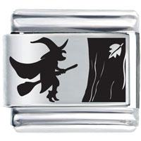 Halloween Witch Holiday Italian Charms Laser Italian Charm