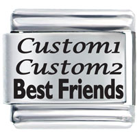 Friends Custom Laser Italian Charms Bracelet Link