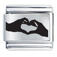 Couple Heart Hands Italian Charms Laser Italian Charm
