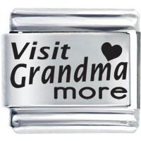 Home Family Visit Grandma More Laser Italian Charm Bracelets