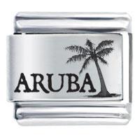 Aruba Beach Palm Christmas Tree Laser Hobbies Professions Italian Charm