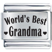 World S Best Grandma Laser 9 Mm Italian Charm For Bracelets Laser Italian Charm