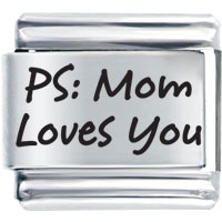 Family Mom Loves You Laser Italian Charm Bracelets