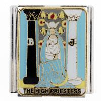 Enamel Tarot High Priestess Mega Italian Charm Stainless Steel