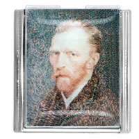 Van Gogh Self Portrait Italian Charm Mega Mega Italian Charm