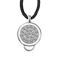 Karma Necklaces Round Crystal Pendant Sterling Silver Jewelry For Women Beads Charms Bracelets Fit All Brands
