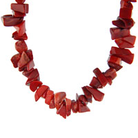 Tiger Eyes Chip Stone Necklaces Mookaite Red Coral Chip Stone Necklaces