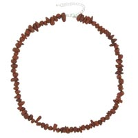 Chip Stone Necklaces Genuine Red Coral Gemstone Nugget Chips Stretch Beads Necklace