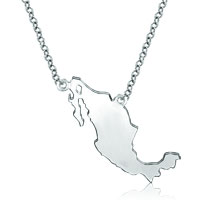 925 Sterling Silver Country Map Custom Made Any Country Map Necklace Pendant Sterling Silver Pendant