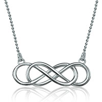 925 Sterling Silver Infinity In Infinity Necklaces Pendant