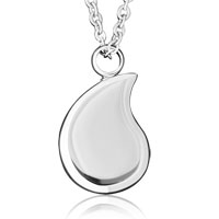 Silver Cremation Jewelry Urn Necklace Stainless Steel Memorial Pendant Ashes
