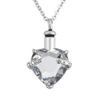 White Heart Pendant Necklacekeepsake Jewelry Ash Holder Funnel