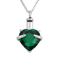 Green Heart Pendant Necklacekeepsake Jewelry Ash Holder Funnel
