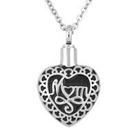 Mom Stainless Steel Jewelry Ash Holder Funnel Pendant Necklace